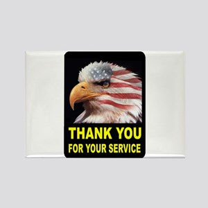 MILITARY THANKS Rectangle Magnet